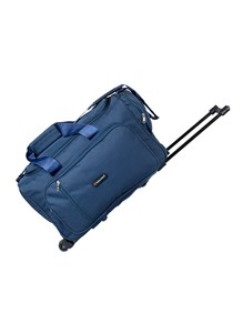 Indian Riders Travel Bag with Trolley - Navy Blue (IRTB-001)